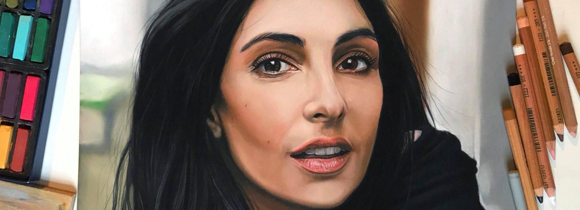 Portret tekenen in pastel